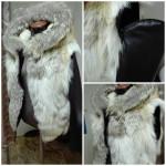 Мужская куртка- жилет из волка